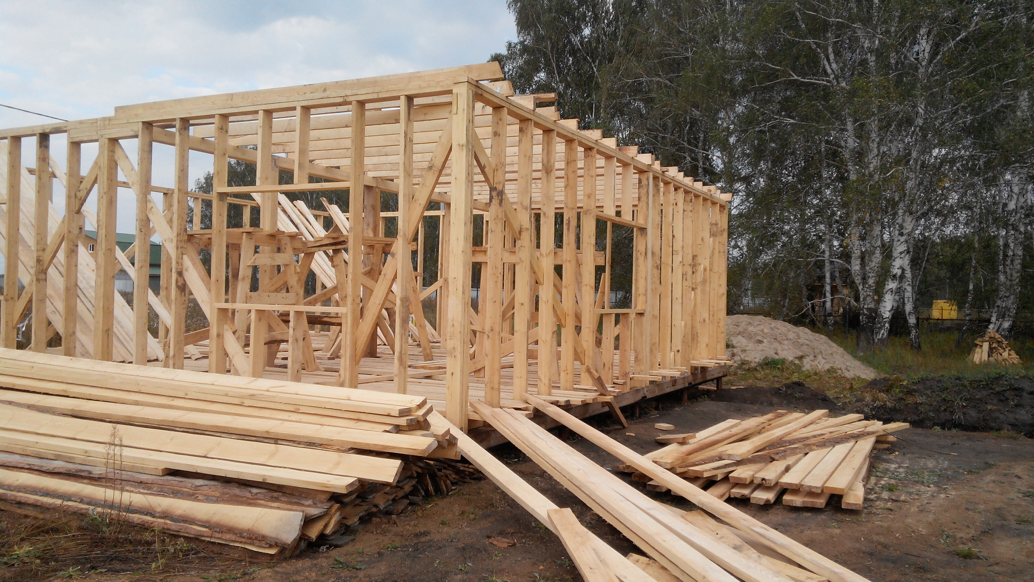 Фотоотчет о строительстве каркасного дома